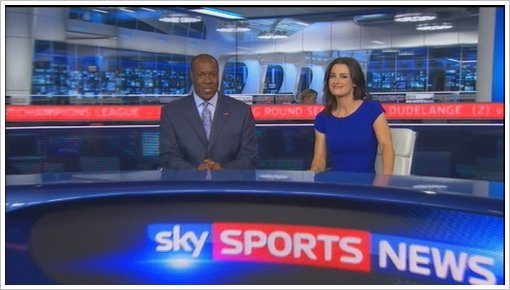 Sky Sports News new studio 2011 with Kirsty Gallacher and Mike Wedde (10)