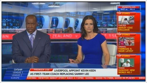 Sky Sports News new studio 2011 with Kirsty Gallacher and Mike Wedde (16)