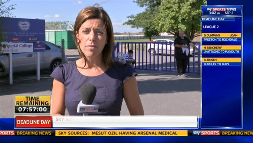 Deadline Day 2013 Gail Davis Reporting On Queens Park