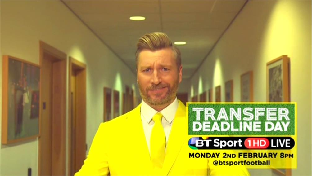 BT Sport Promo - Transfer Deadline Day 2015 with Robbie Savage and Lynsey Hipgrave (13)