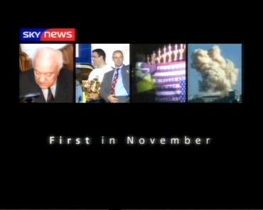 First in November – Sky News Promo 2003
