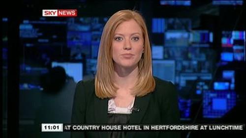 Sky News Female Presenter Redhead