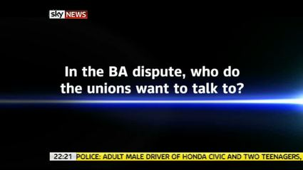 Unions want to talk to? – Sky News Promo 2010