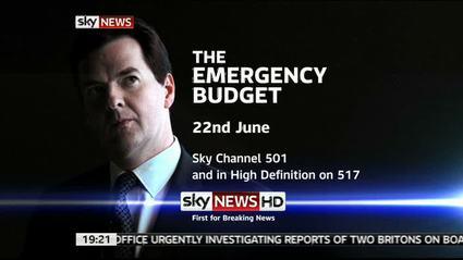 Emergency Budget – Sky News Promo 2010