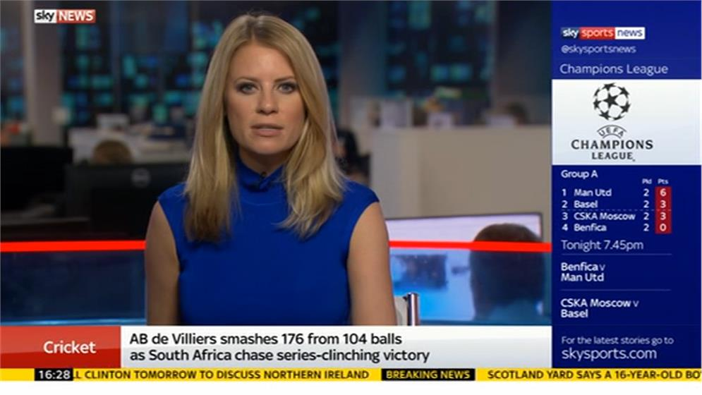 Rachel Wyse - Sky Sports News Presenter