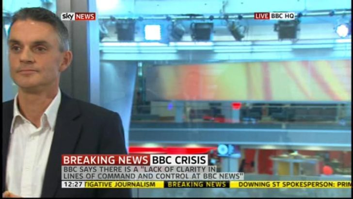 Acting BBC DG Tim Davie ends his interview with Sky News by walking off..