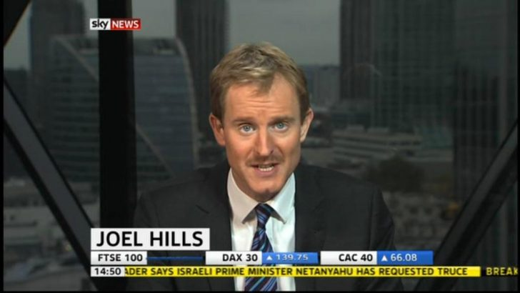 Sky News Business Presenter Joel Hills takes part in Movember!