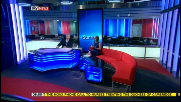 A new set for Sky News Sunrise