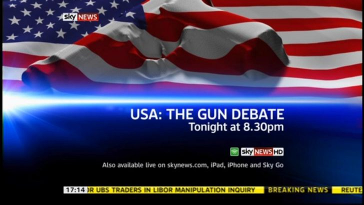 Sky News to debate gun control in the United States
