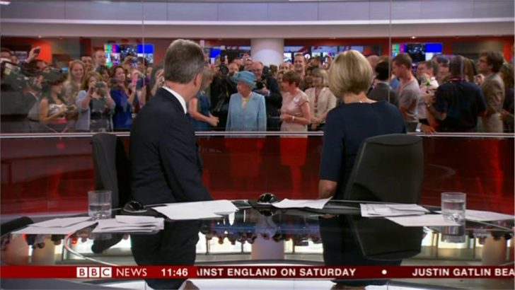 Video: The Queen Visits BBC's New Broadcasting House