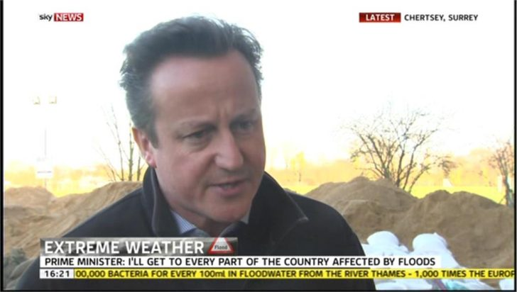 Did PM David Cameron walk out of a Sky News Interview?