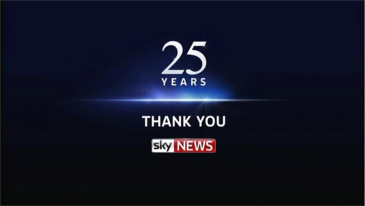 Thank you for watching 25 years – Sky News Promo 2014