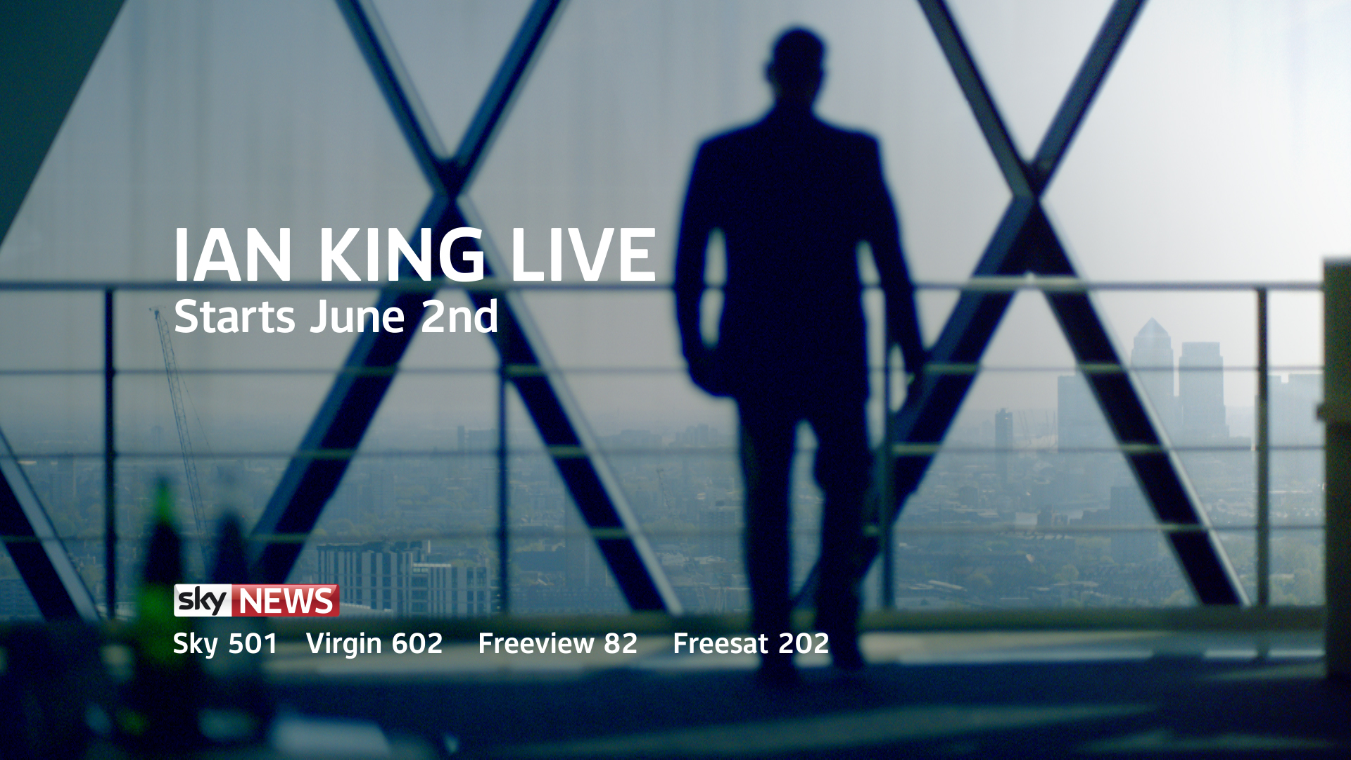 Sky News: 'Ian King Live' to launch on 2nd June 2014