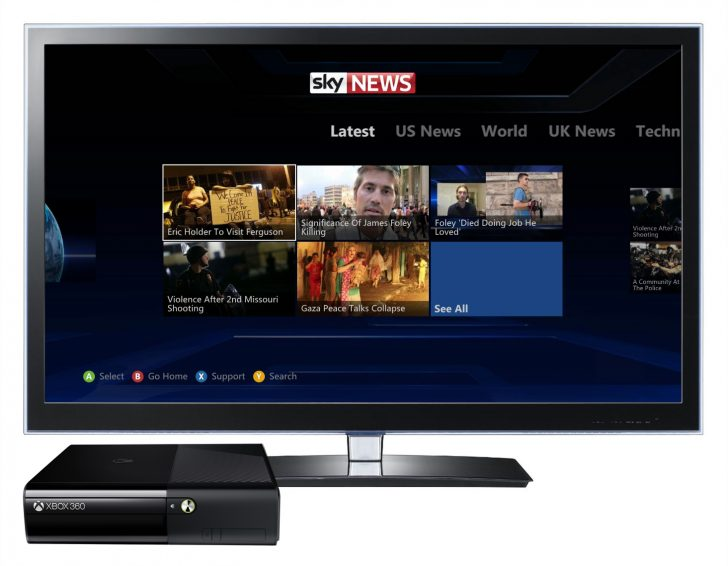 Sky News further extends US distribution through Xbox 360 launch