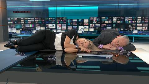 News Presenters post #bedless photos for homeless charity
