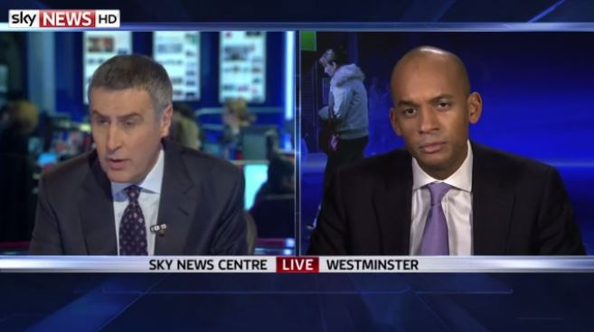 Sky's Dermot Murnaghan and Labour's Chuka Umunna have heated exchange over Eric Pickles letter