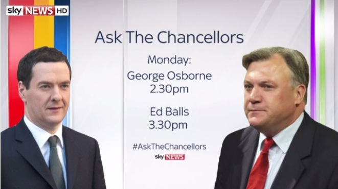 'Ask The Chancellors': Q&A special with George Osborne & Ed Balls – Live on Sky News