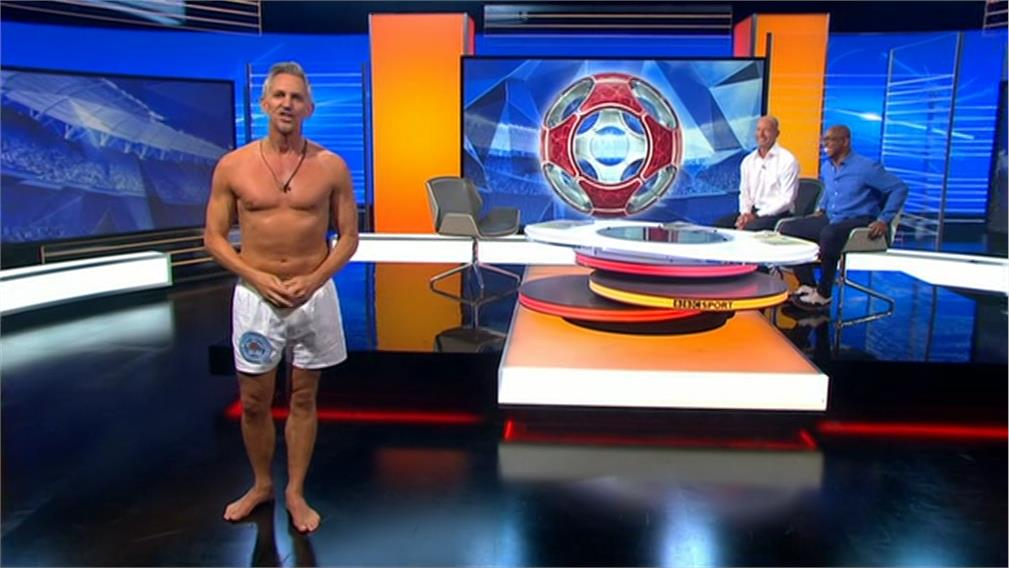 BBC Match of the Day running order on 13th August 2016 – Gary Lineker in Pants