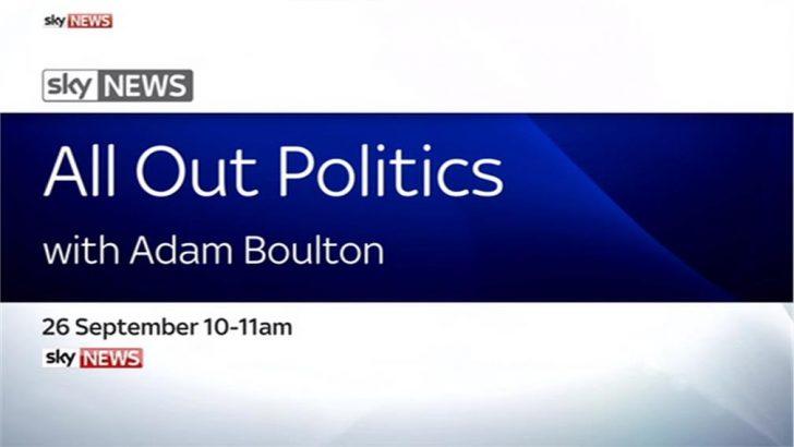 All Out Politics with Adam Boulton – Sky News Promo 2016