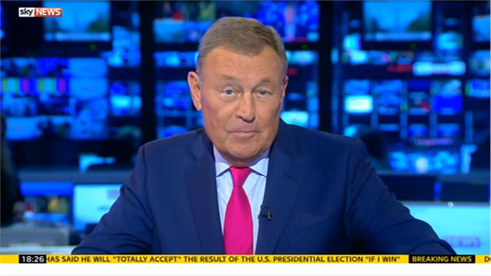 Jeremy Thompson presents his final Sky News at Five programme
