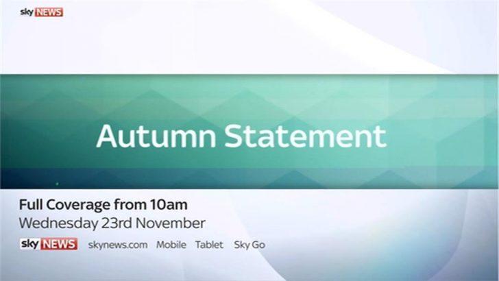 Autumn Statement  – Sky News Promo 2016