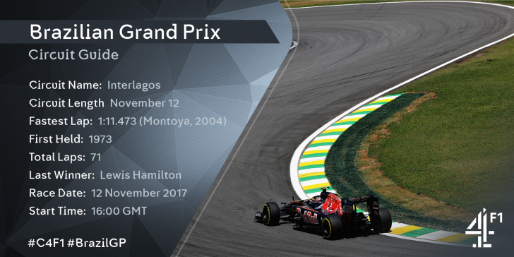 Brazilian Grand Prix 2017 – Live TV Coverage on Sky Sports; Highlights on Channel 4