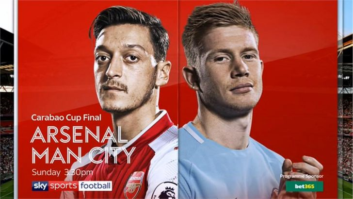 Arsenal v Manchester City – Carabao Cup 2018 Final – Live TV coverage on Sky Sports, highlights on Channel 5